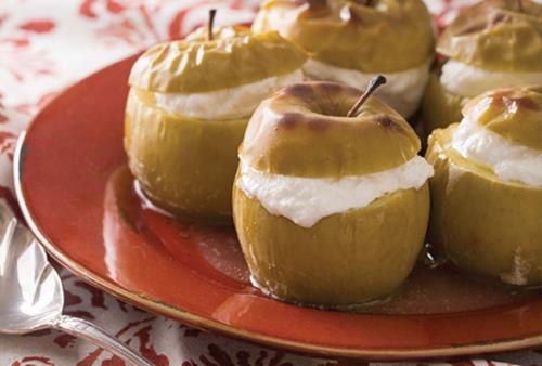 Baked Apples with Spiced Ricotta