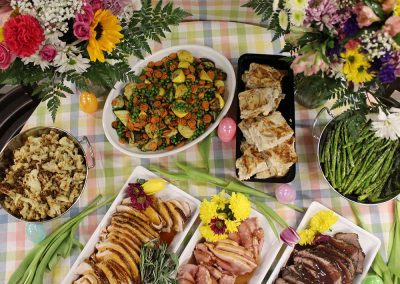 Catering Spread Top View