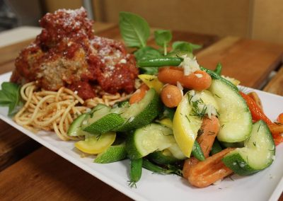 Spaghetti and Meatballs with Vegetables 1