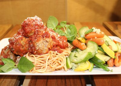 Spaghetti and Meatballs with Vegetables