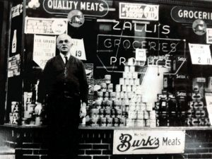 Mr. George Zallie's father began a family tradition by operating a grocery store in Ocean City, N.J., and then one in Philadelphia.
